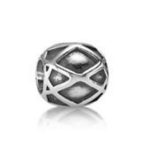 Pandora Charm | Sterling Silver Harlequin Bead